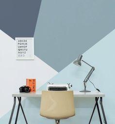 daphnedecordesign_la peinture graphique pour sublimer vos murs: bleu gris et blanc_workspace bureau