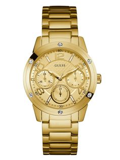 Gold-Tone Textured Sparkle Watch