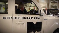 London Mayor, BORIS JOHNSON MEETS NEW METROCAB TAXI