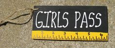 Teacher Gifts Girls Pass Black with Ruler by NannieandBCrafts, $1.50