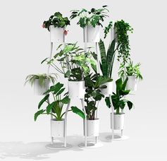 A Room Divider That Incorporates Plants Into Its Design