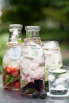 Saturday Sips! Flavored Waters - Party Inspiration