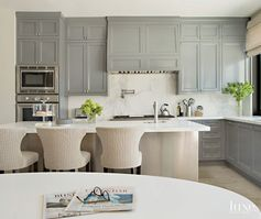 Contemporary Kitchen With Paneled Cabinetry