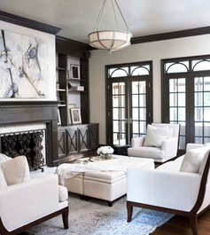 Classic Living Room: i love this and i really like the doors in the back .