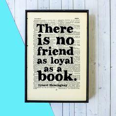 Ernest Hemingway Quote Framed Print