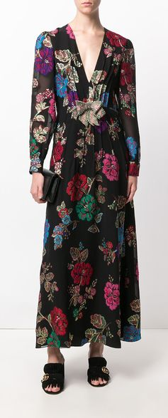 Gucci embroidered floral dress. Explore new season Gucci on Farfetch now.