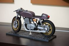 Model: Cafe Racer Twin Motorcycle by Dbvandy #toysandgames #prusai3