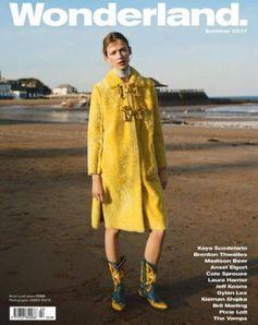 The Fendi Prefall17 coat on the cover of Wonderland Magazine