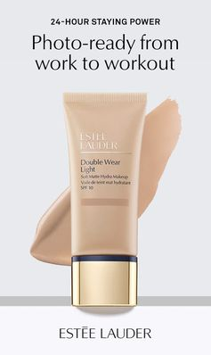 Matte reimagined. Lightweight and non-drying, Estée Lauder   Double Wear Light is your go-to foundation for 24-hour, non-stop wear.