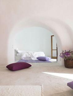 Chambre sous arche blanche style méditerranéen