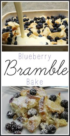 Delicious Blueberry Bramble Bake Recipe - Thrifty Nifty Mommy