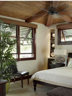 Tropical windows and bamboo ceiling...sigh