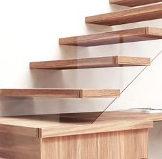 A Desk Was Designed Into The Space Under These Stairs