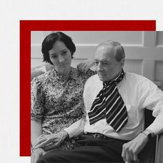 Photographer William Eggleston with his daughter in 2016.