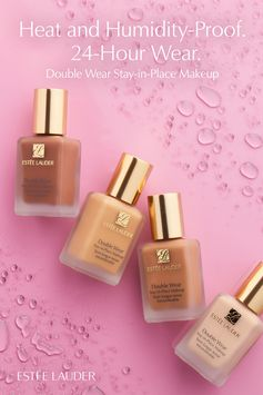 Beat the heat with Double Wear Stay-in Place Makeup! Lightweight, oil-free foundation that will last through heat and humidity, now with 24-hour staying power in all 42 shades. Seasons change and so does your foundation, so find your perfect match by using our Foundation Finder online.