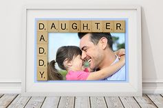 Accent a favorite photo with wood letters to bring a smile to Dad's face. You can print your photos on the KODAK Picture Kiosk or with the My KODAK MOMENTS app. #fathersday