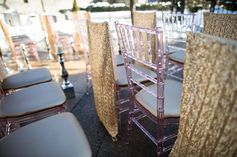 Sequin chair cover | Glamorous Winter Wedding | WPIC Inc. | Ultimate Wedding Magazine #gold #sparkle #sequin