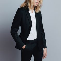 That borrowed-from-the-boys look comes courtesy of cool tailored separates and pared back accessories.