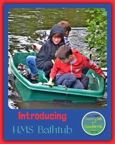 On the Coombe Mill Holidays lake in HMS Bathtub