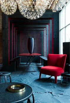 A little subtle red for an interior design impact  #Lounge