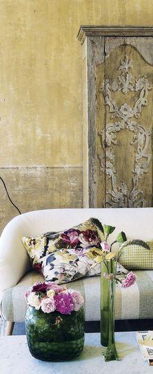 Vert-jaune, ocre, rose pivoine : simplicité... - Les palettes colorées de Tricia Guild - CôtéMaison.fr
