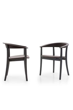 """«The character of this elegant chair is expressed by the back support and the armrests, and highlighted by the obtuse angle line around the elbow area. All four legs are slightly curved outwards at the bottom to give a classic feel as well. The chair is named """"Belle"""" after the story of """"The Beauty and the Beast"""".» #naotofukasawa #bulltable #bellechair #bebitalia #furnituredesign"""