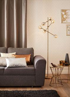 Coussin Ekokuir, argent l.30 x H.50 cm Superposez les coussins de différentes matières pour un rendu chic dans votre salon ! #leroymerlin #salon #ideedeco #madecoamoi #tendance #lampe