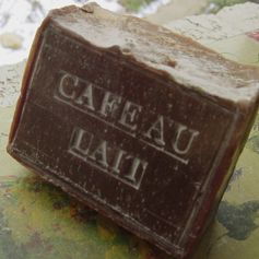 Coffee Soap - French Coffee and Milk Soap - Cafe au lait Soap <3