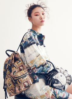 The Rucksack in Trench Leather. Burberry designs shot by Jung Wook Mok for Elle Accessories Korea