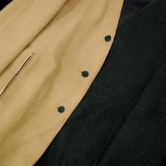 Beige and Brown Liner coat from HERMES by Martin Margiela, 1st collection