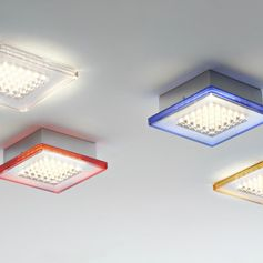 QUADRILED - Plafonnier LED Transparent L40cm Fabbian