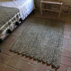 Tapis rectangulaire natte en feuille de palmier 120 x 80 cm