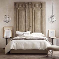 inspiration tête de lit avec porte balinaise