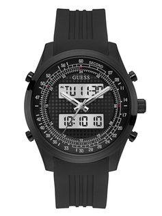 Black Digital Chronograph Watch