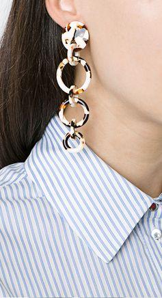 LELE SADOUGHI  wind chime hoop earrings, explore new season jewellery on Farfetch now.