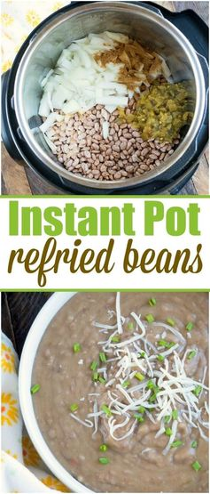 Pressure cooker refried beans recipe that uses no lard and there is no pre soaking required! Perfect addition to burritos or 7 layer dip! #instantpot #refriedbeans #beans #pressurecooker #instantpotrecipes #thetypicalmom #homemade via @pinterest.com/thetypicalmom