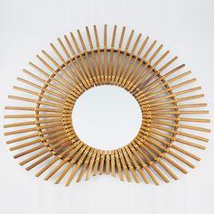 Miroir en rotin Nénuphar Bakker : Decoclico