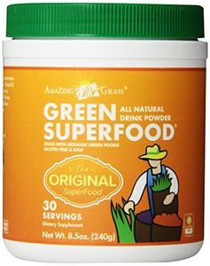 Amazing Grass All Natural Drink Powder, Green Superfood, 8.5-Ounce Container Amazing Grass