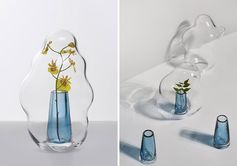 Yuhsien Design Studio has created a collection of modern vases that were inspired by the irregular and unique appearance of bubbles. #ModernVases #ModernDecor #Flowers #Florist