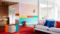Tendance Color block. Des couleurs en blocs acidulés pour une ambiance design et moderniste