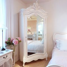vintage armoire & mirror