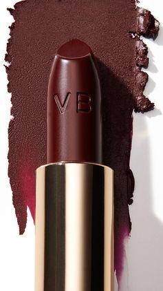 Meet Victoria Beckham's striking Matte Lipstick in Black Cassis. #VBxEsteeLauder
