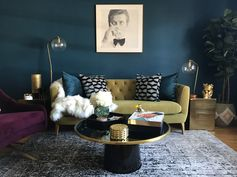 west elm - Hollywood Glamour in an LA One Bedroom