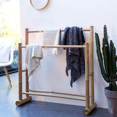 Du bambou dans la salle de bain Porte serviette bambou Balyss