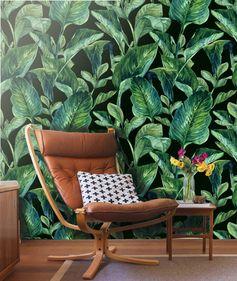 Mur de feuilles tropicales murale  papier peint par LimeWallDecor
