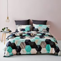 Metro Hexel Quilt Cover Set, doona cover, cheap quilt cover