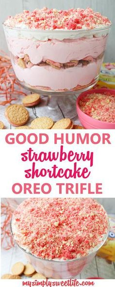 GOOD HUMOR STRAWBERRY SHORTCAKE OREO TRIFLE - Cocoan Dish