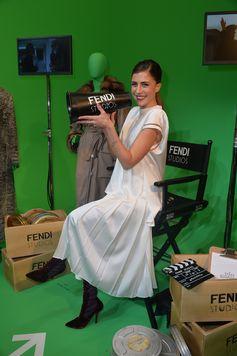 Francesca Valtorta in Fendi Fall/Winter 2017-18 @ Fendi  Studios