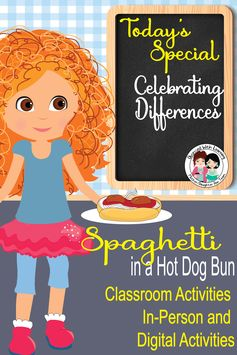 Spaghetti in a Hot Dog Bun Activities, Vocabulary, Writing - Distance Learning