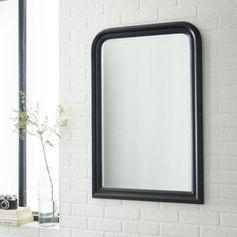 Miroir Voltaire INSPIRE, noir, l.60 x H.90 cm | Leroy Merlin